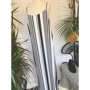 NWT F21 Black and white striped dress